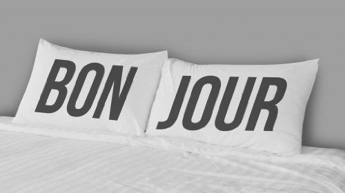 Pillow Cases Set of Two Pillowcases Bon Jour Design - Cool Hot Fashions