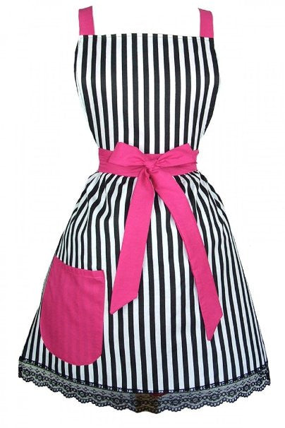 Hemet Vintage & French Inspired Striped Apron