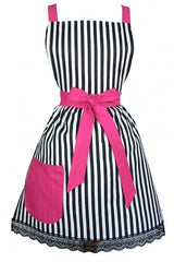Hemet Vintage & French Inspired Striped Apron - Cool Hot Fashions
