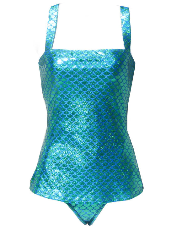 Esther Williams Mermaid Million Dollar Shiny Emerald Green Swimsuit pinup style - Cool Hot Fashions