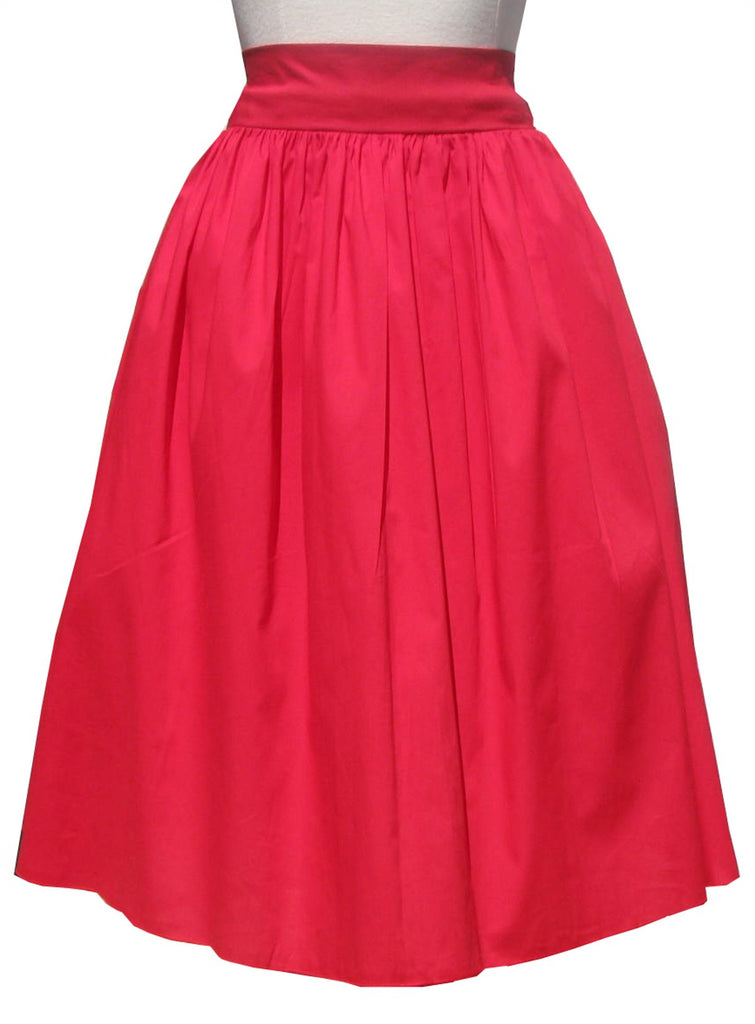 Cherry Red Swing Skirt Rockabilly Pinup Vintage Style