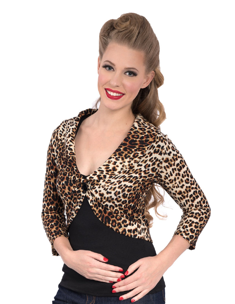 Steady Womens Leopard Marilyn Sweater Classy Retro Inspired