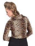 Steady Clothing Leopard Print Crop Cardigan USA Made