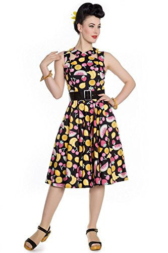 Hell Bunny Tutti Frutti Rockabilly Fruit Cocktail Dress - Cool Hot Fashions