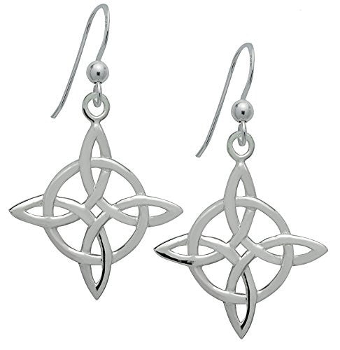 Sterling Silver Celtic Good Luck Dangling Earrings
