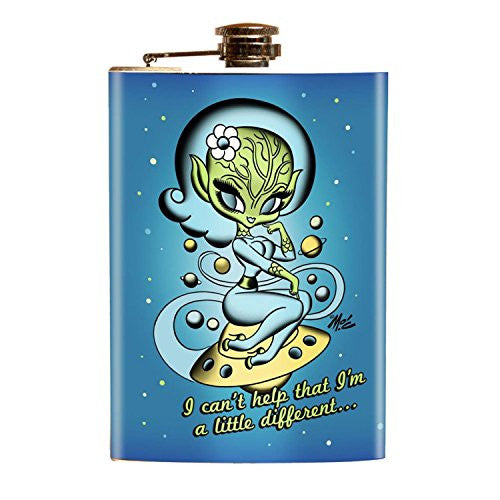 Alien UFO Girly Alien Mars Flask Spaceship