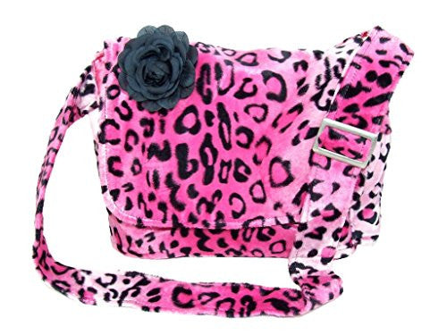 Hemet Pink Leopard Print Messenger Laptop Bag