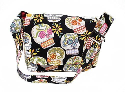 Hemet Sugar Skulls Messenger Bag