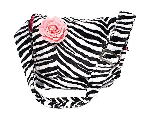 Hemet Zebra Print Messenger Laptop Bag