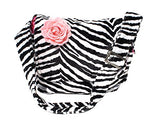 Hemet Zebra Print Messenger Laptop Bag - Cool Hot Fashions