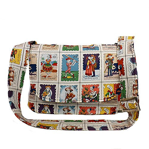 Hemet Loteria Cards Messenger Bag - Cool Hot Fashions