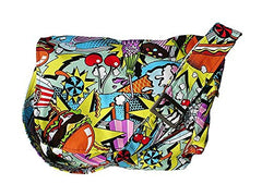 Hemet 1950s Diner Messenger Junk Food Bag Purse, - Cool Hot Fashions