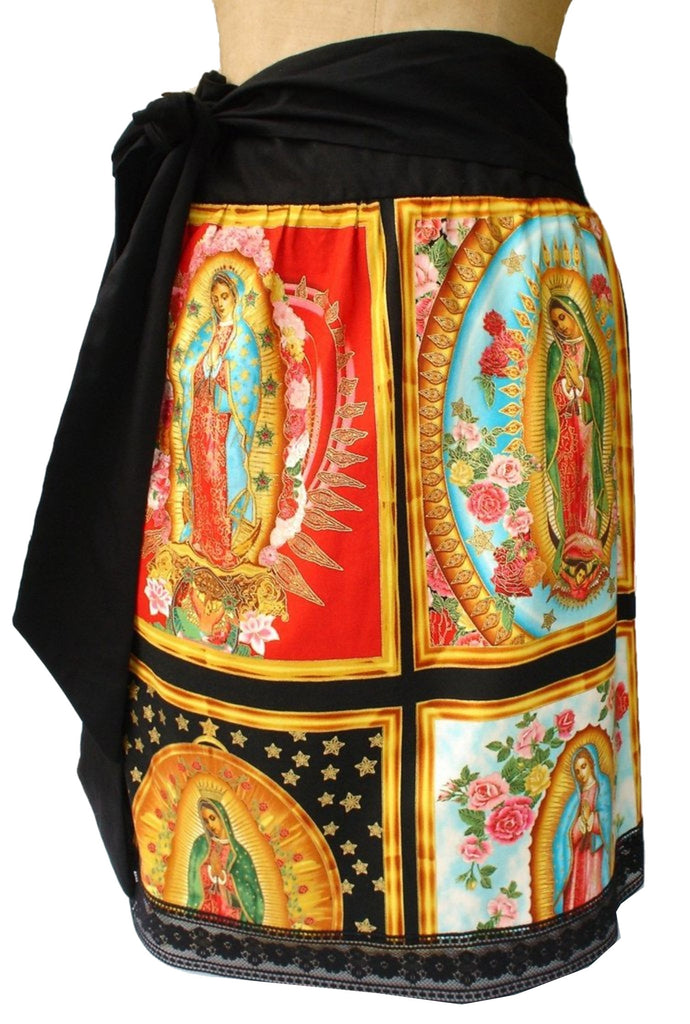 Virgin Mary Our Lady of Guadalupe Panel Twist Her Skirt Mexican