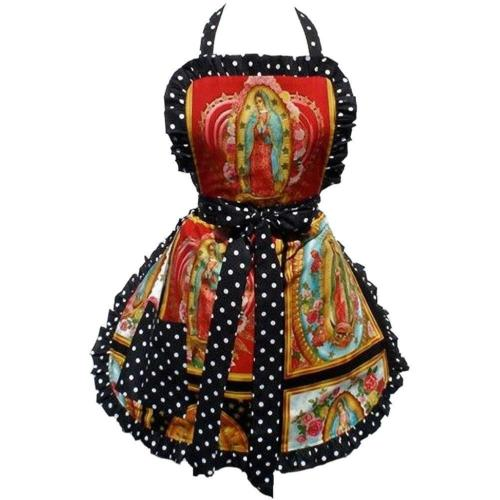 Hemet Guadalupe Virgin Mary Mexican Apron - Cool Hot Fashions