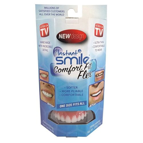 Instant Smile Top Fit Flex Teeth Top Cosmetic Veneer One Size Fits All NEW - Cool Hot Fashions