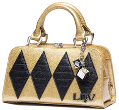 Lux De Ville Champagne Sparkle & Matte Black Mini High Roller