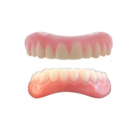 Smile Veneer MEDIUM TOP & BOTTOM set  includes Setting beads Free Shipping IN USA