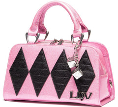 Lux De Ville Bashful Blush & Matte Black Mini High Roller Tote