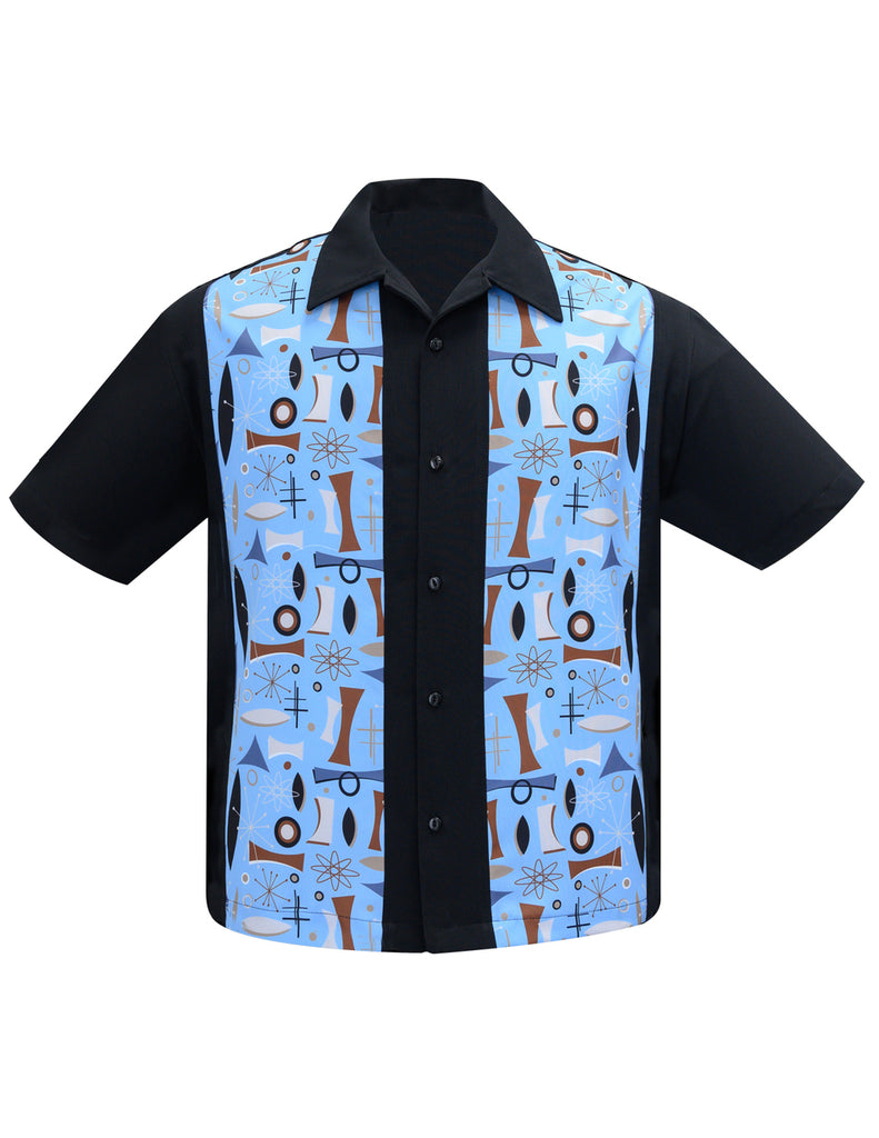 Atomic Dream Panel Retro Vibe Bowling Lounge Shirt