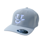 UDisc Flexfit 110 Adjustable Disc Golf Hat - Silver