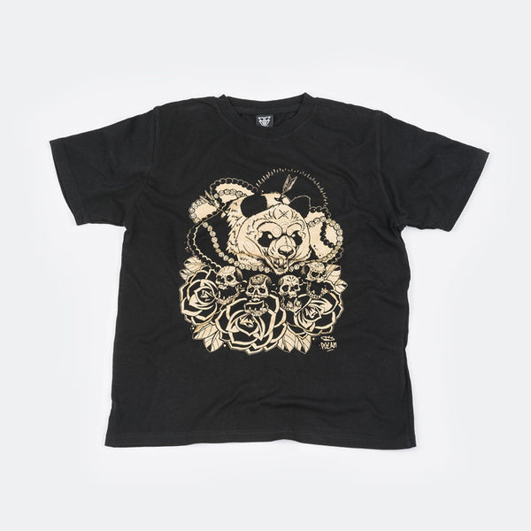 Gold & Black T Shirt by Bear Face family friend and awesome tattoo artist - Pozan.