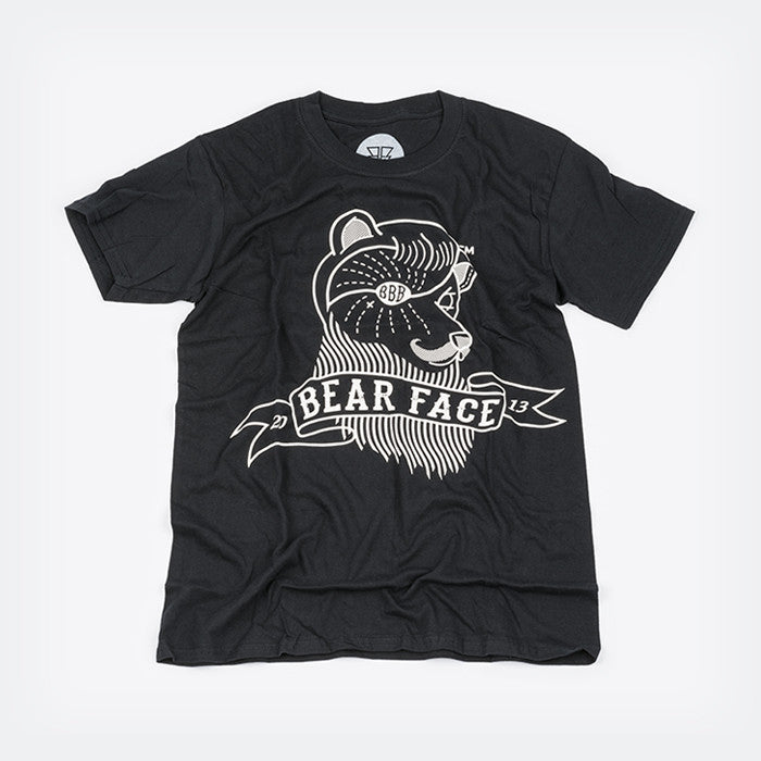 Black & White, the original Bare Face logo t-shirt