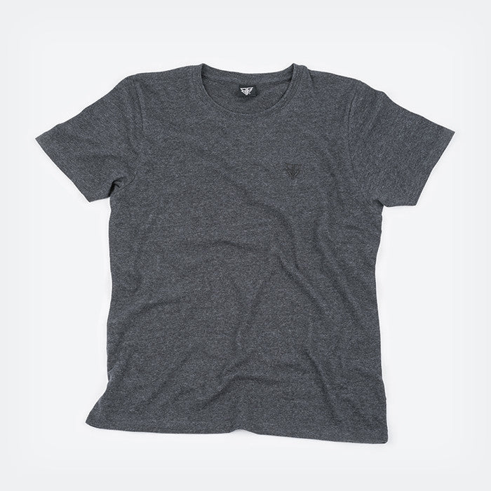 Grey & Black Glyph tshirt by Bear Face - font view