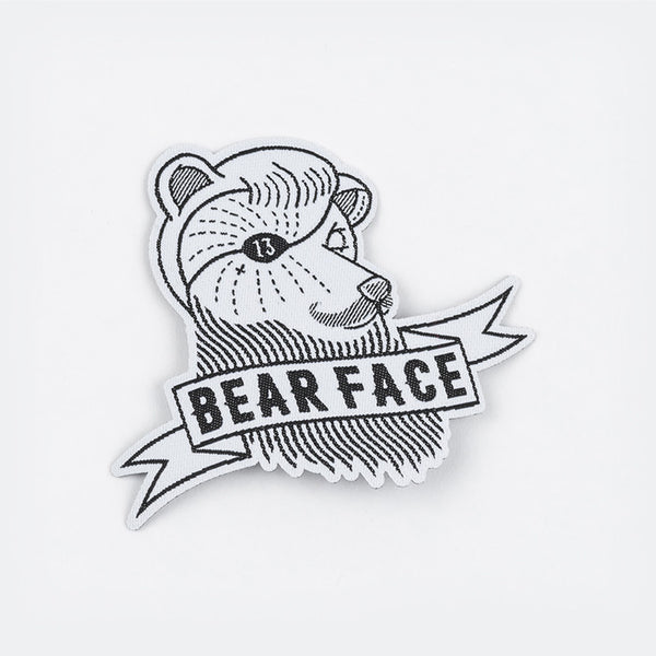 Bear Face logo iron on patch