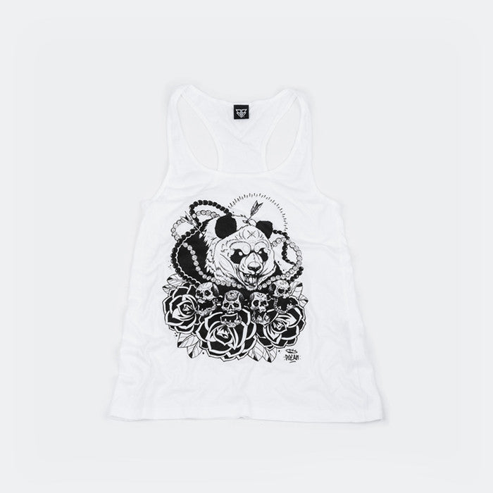White & Black vest top by Bear Face family friend and awesome tattoo artist - Pozan.