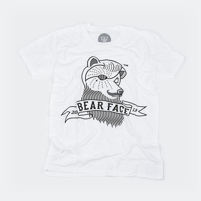 White & Black, the original Bare Face logo t-shirt