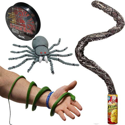 Magic Spring Snake + Epic Snake and Spider Pranks | Buy Prank Kits