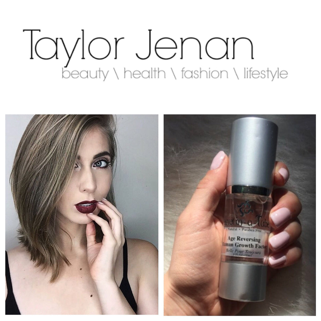 Taylor Jenan Getting Serious About Skincare with Secret in-a-Tube Age Reversing Human Growth Factor Serum!