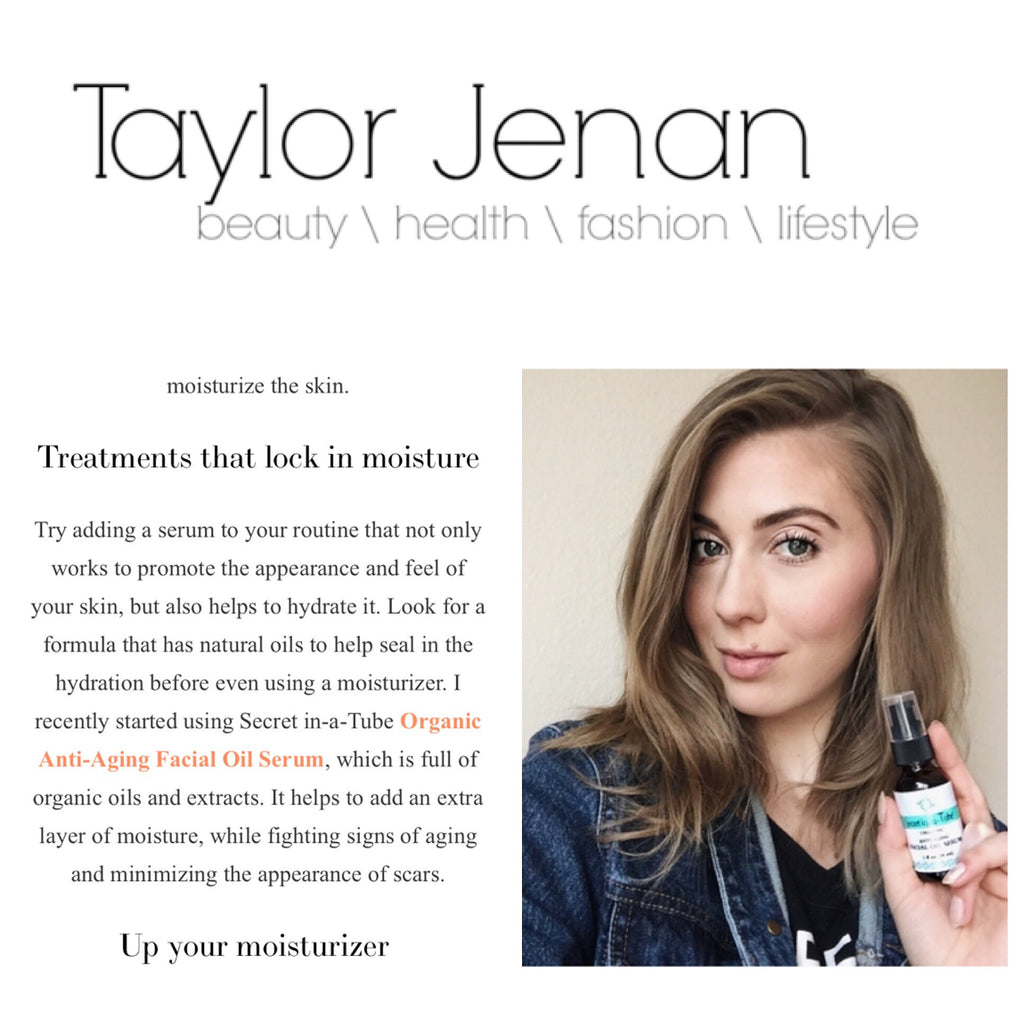 Taylor Jenan Shares Her Tips to Winter Proof Your Skin With Secret in-a-Tube Organic Anti-Aging Facial Oil Serum