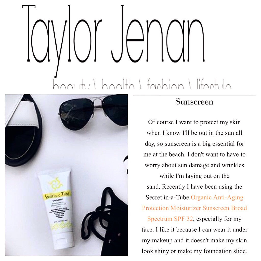 Taylor Jenan Shares Her Favorite Organic Sunscreen from Secret in-a-Tube!