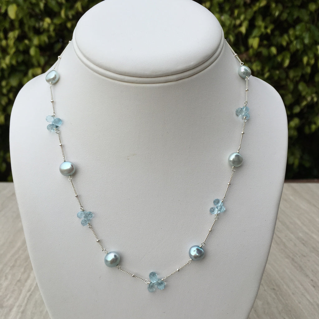 inlay topaz charveaux products blue necklace