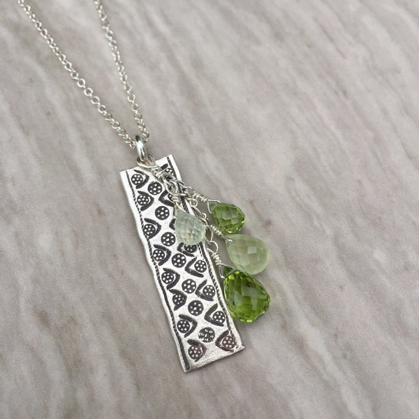 Peridot & Prenite Necklace N-2