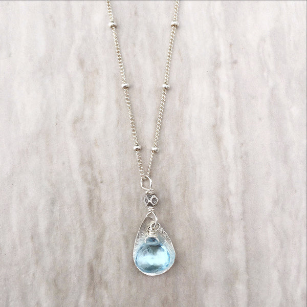 Blue Topaz Necklace N-1