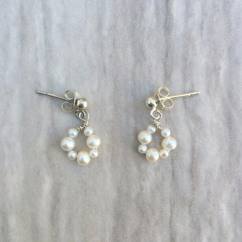 White Pearl Ohana Earrings E-2