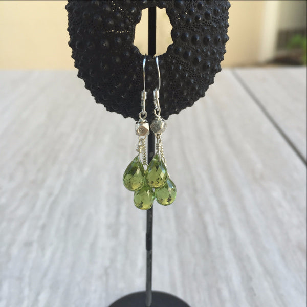 Peridot Earrings E-7