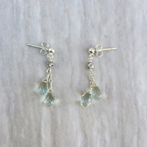 Green amethyst Earrings E-12