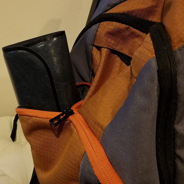 Travel Gel Pad in a backpack