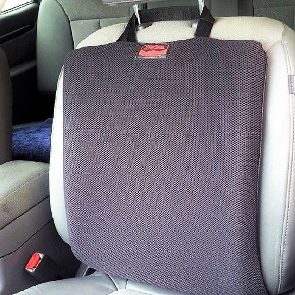 CONFORMAX™ Car Seat-Back Gel Cushion. Adjustable for most rider/seat combo. - OnlyGel