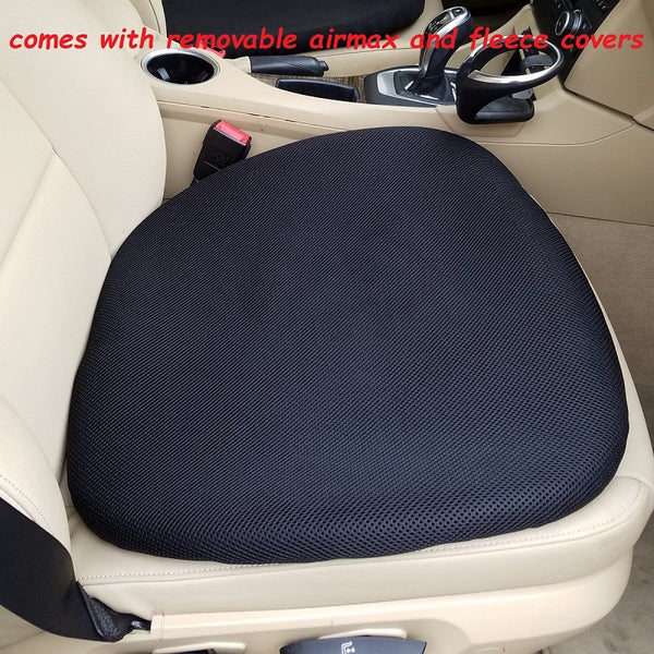 All Season Truck Gel Seat Cushion on a Truck Seat with removable cover