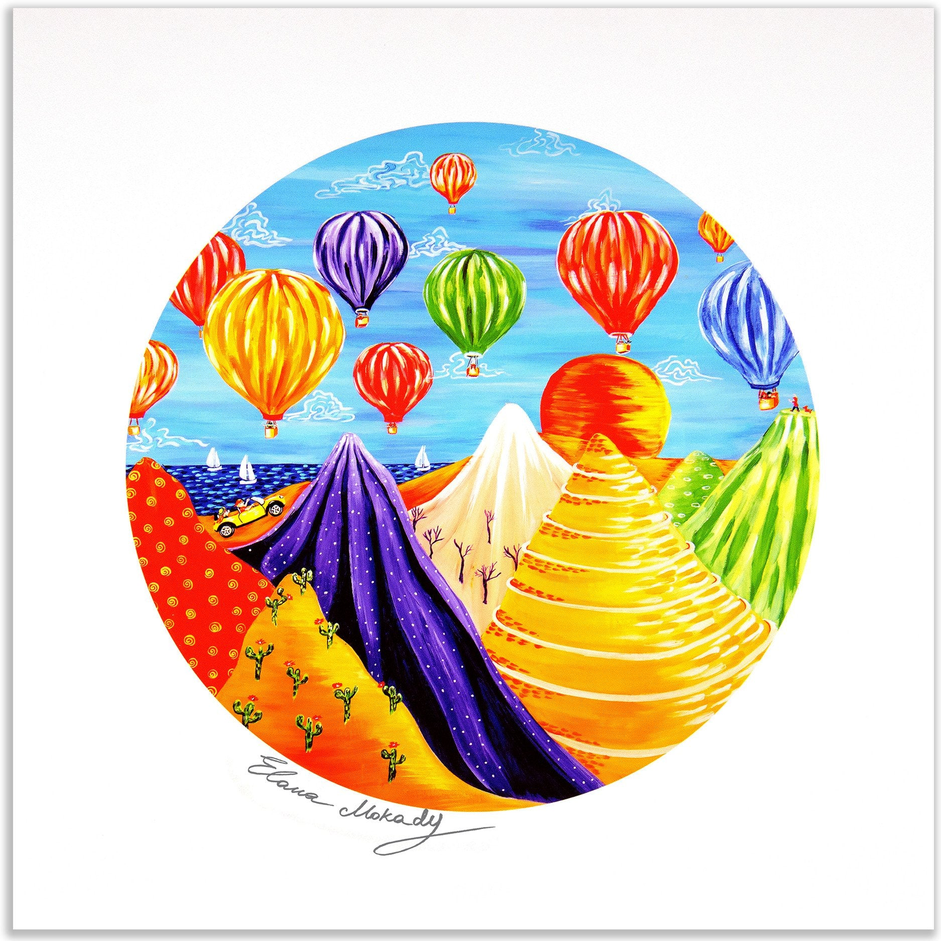 Hot Air Balloon Festival, Paper Wall Art Print