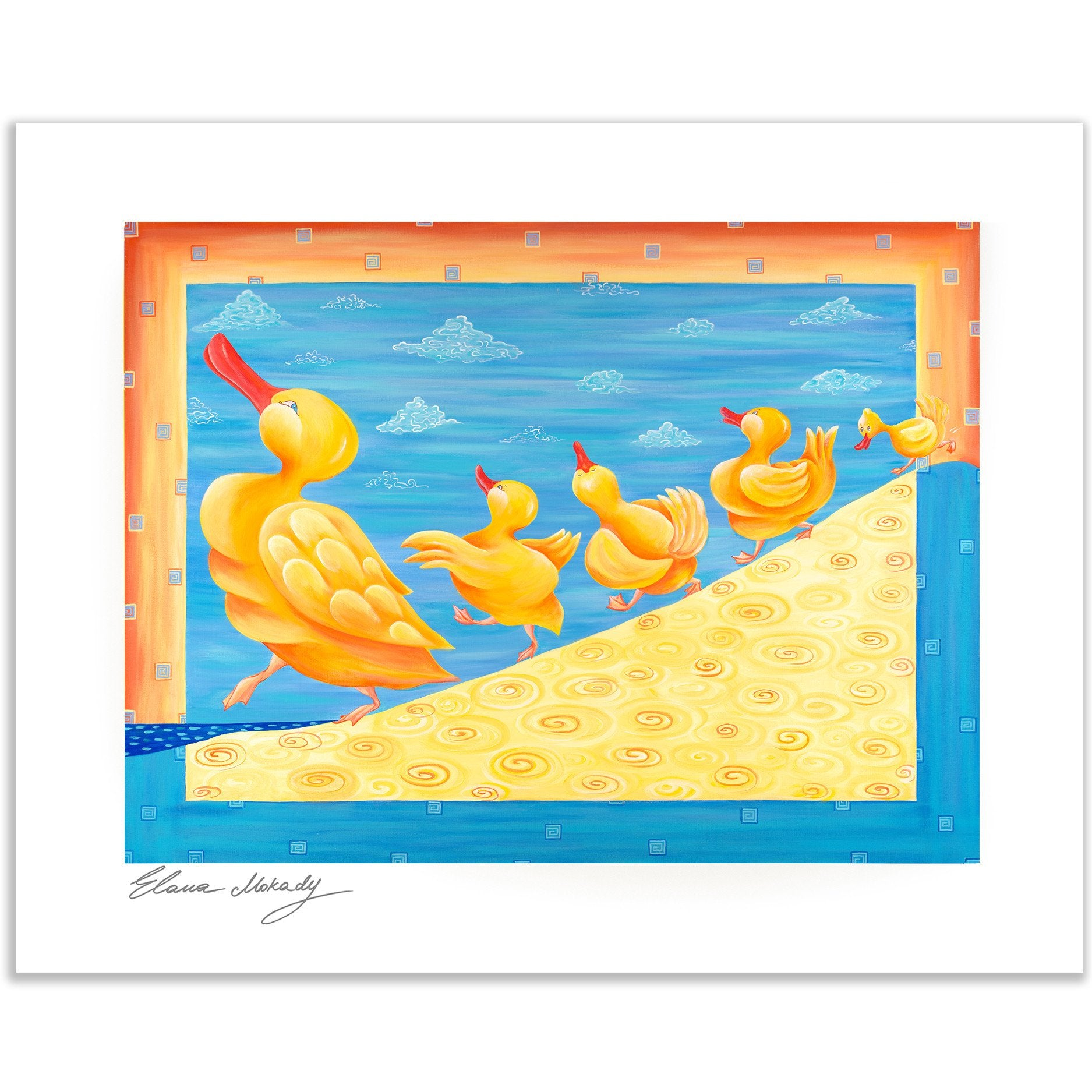 Dancing Ducks Paper Wall Art - Happy Art for Kids room | Elana ...