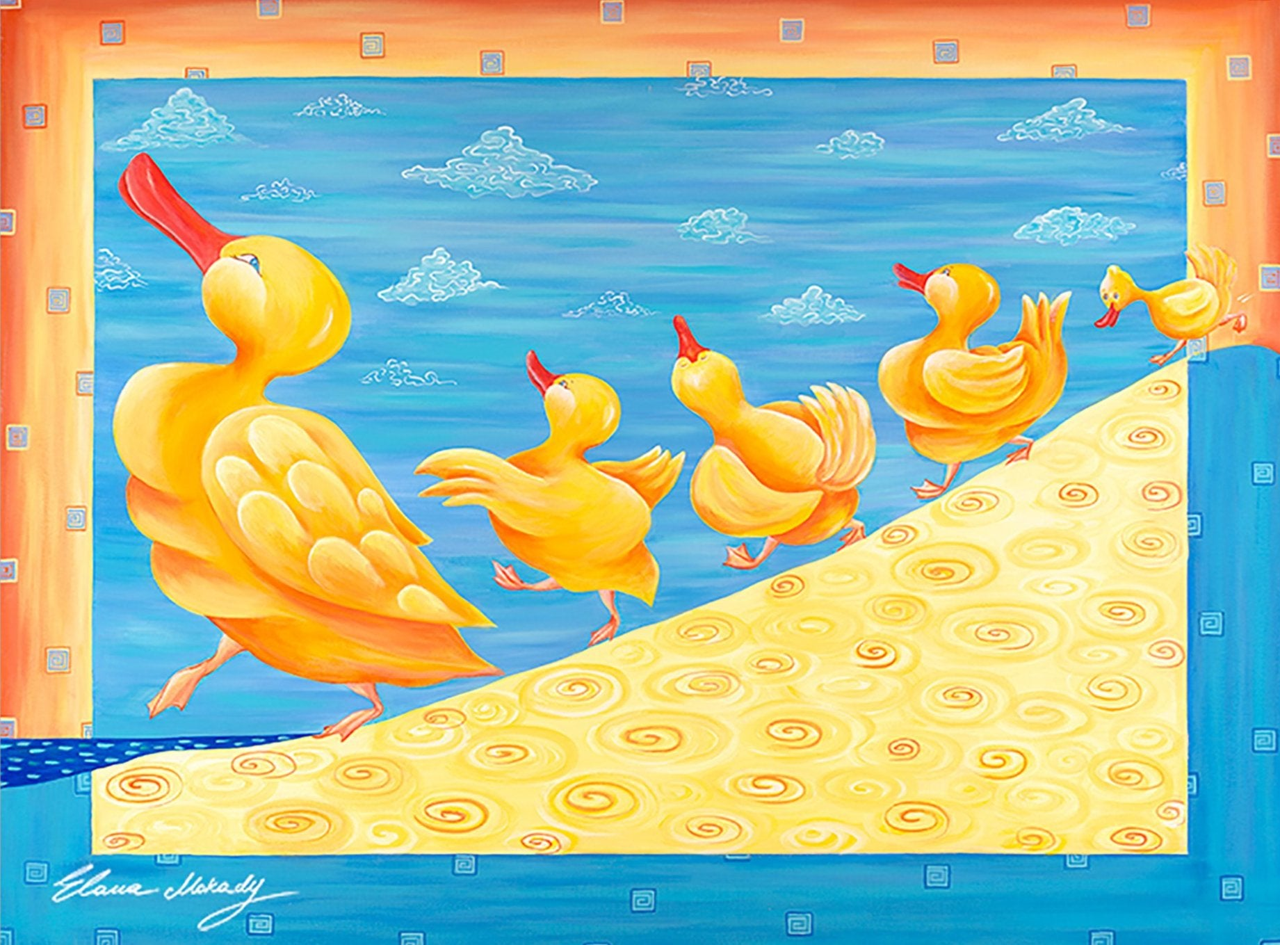 Dancing Ducks, Canvas Print