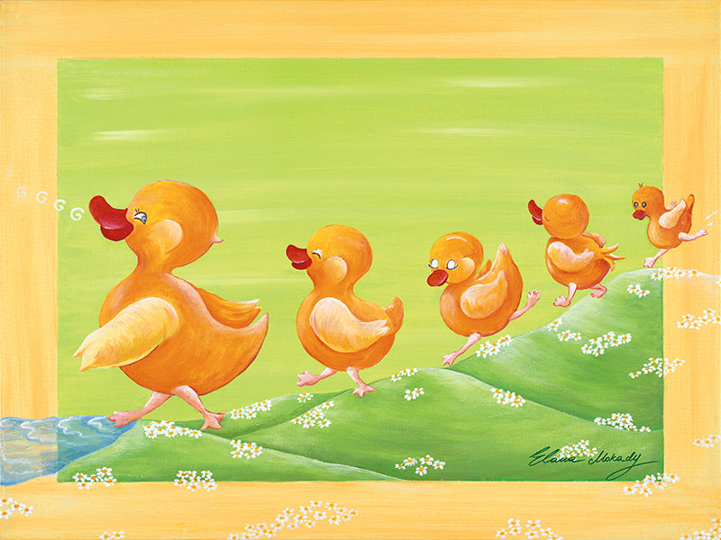 Ducklings Family, Original Wall Art