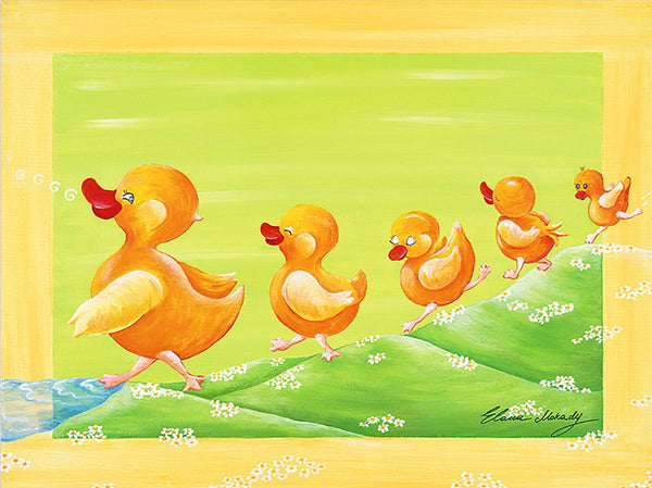 Duckling Family, Canvas Wall Art