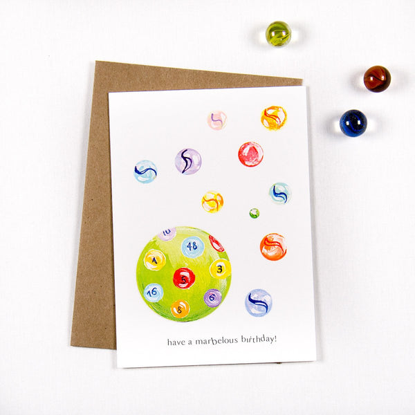 Have a marvelous birthday Marbles - Greeting card