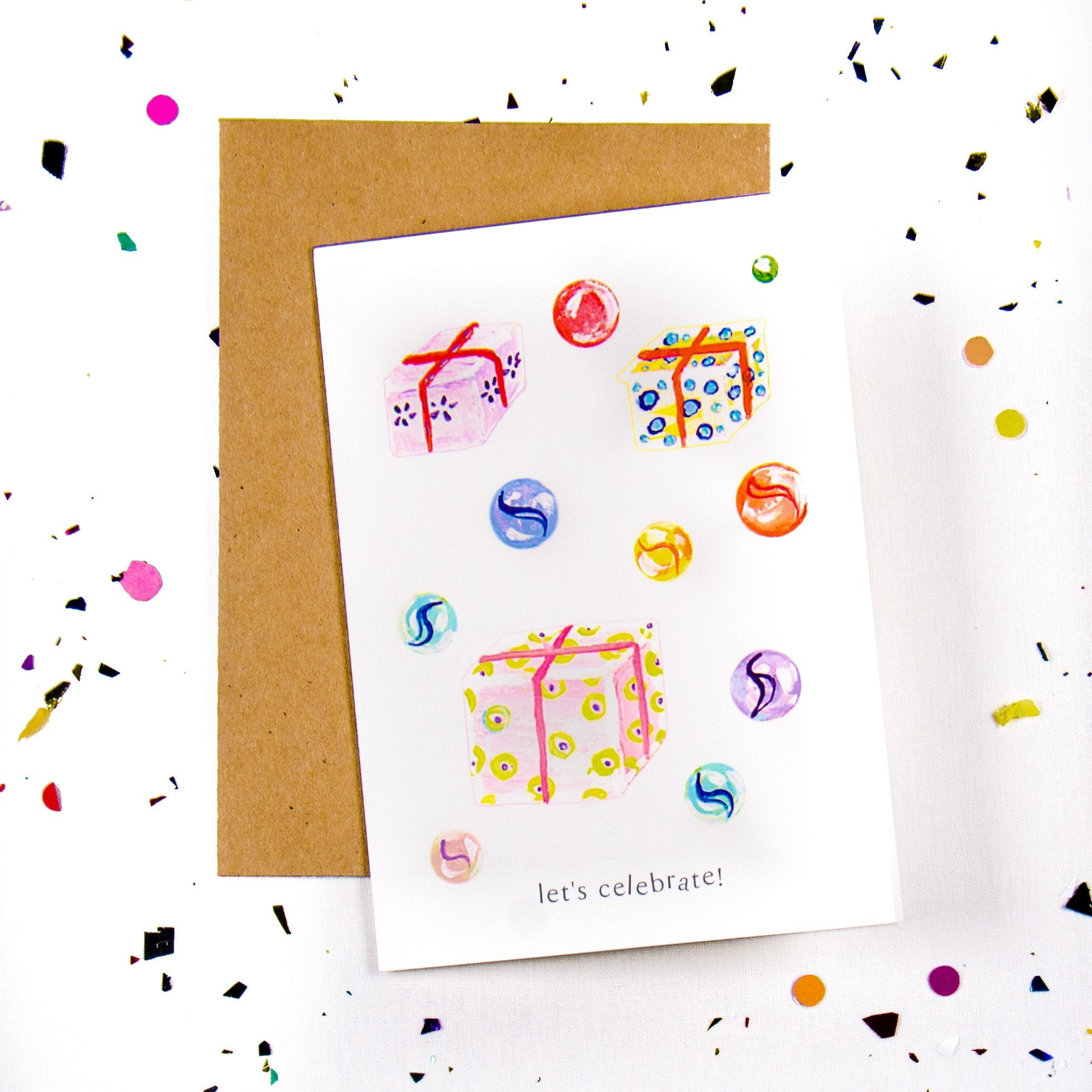 Let's celebrate - Presents and Gifts Greeting Card